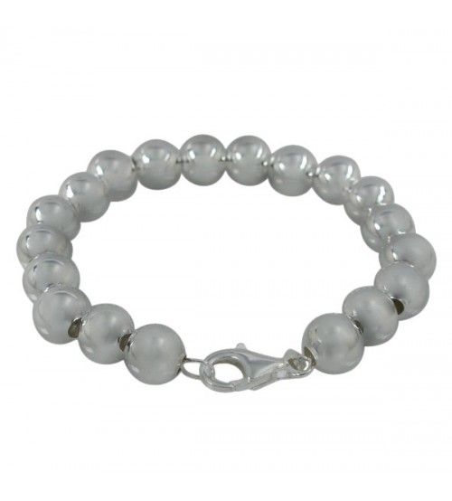 6mm Ball Bead Bracelet, Sterling Silver