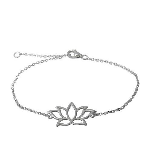 Lotus Charm Bracelet, Sterling Silver