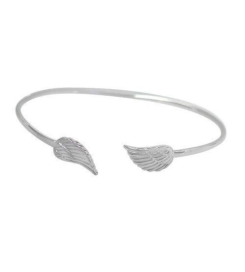 Angel Wings Cuff Bracelet, Sterling Silver