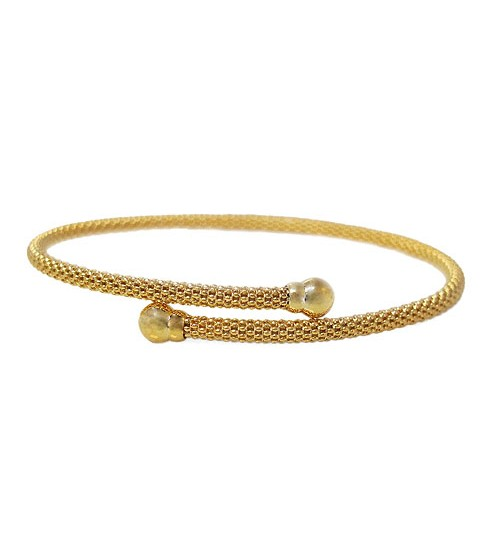 Gold Plated Adjustable Mesh Bracelet, Sterling Silver