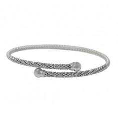 Adjustable Mesh Bracelet, Sterling Silver