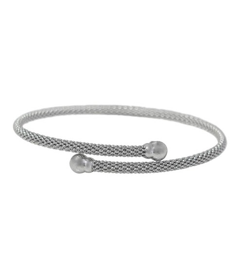 Adjustable Mesh Bracelet, Sterling Silver