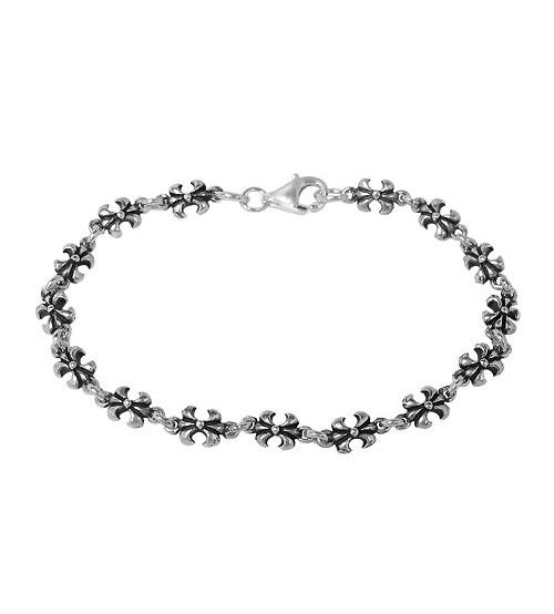 Fleur de Lis Bracelet, Sterling Silver