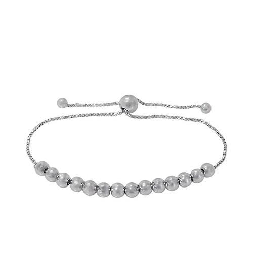5mm Ball Bead Bracelet, Sterling Silver