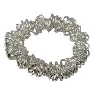 Elastic Link of London Style Bracelet, 7mm Loop, Sterling Silver
