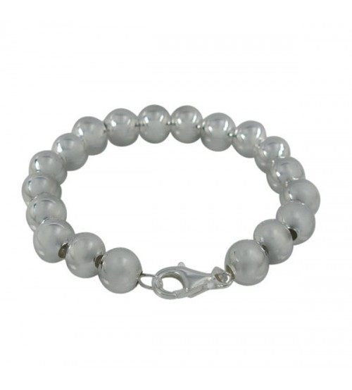 8mm Ball Bracelet, Sterling Silver