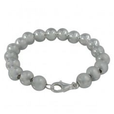 10mm Ball Bracelet, Sterling Silver