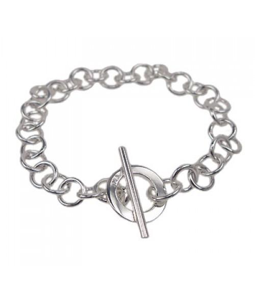 Round Loop Bracelet, Sterling Silver
