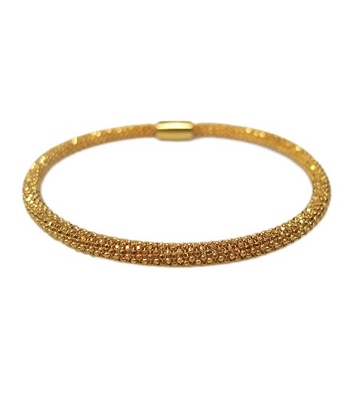 Gold Plated Mesh Style Bracelet, Sterling Silver