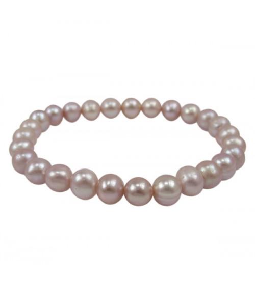 Pink Pearl Elastic Bracelet