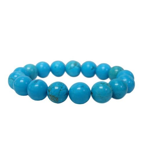 Blue Turquoise Elastic Bracelet