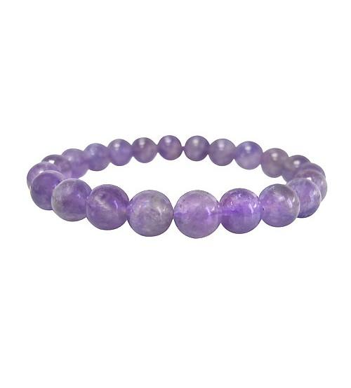 Lavender Amethyst Elastic Bracelet