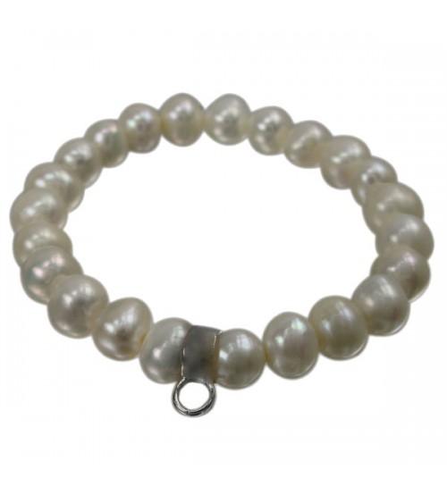 White Pearl Elastic Bracelet