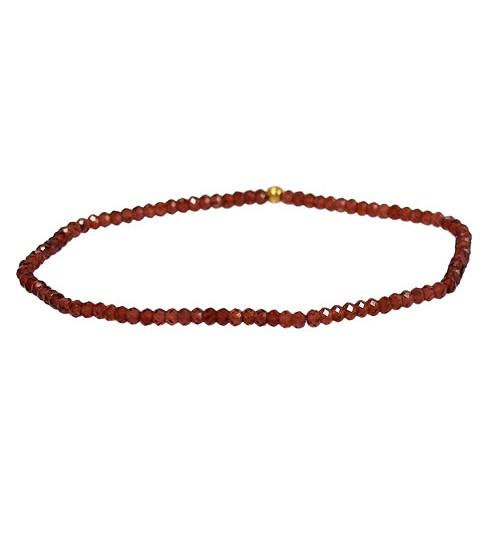 Garnet Elastic Bracelet, Sterling Silver