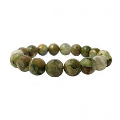 10mm Rainforest Jasper Elastic Gemstone Bracelet