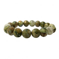 12mm Rainforest Jasper Elastic Gemstone Bracelet