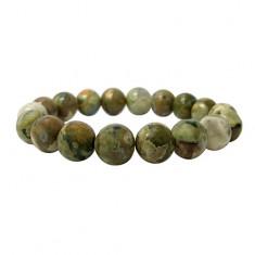 12mm Rainforest Jasper Elastic Gemstone Bracelet