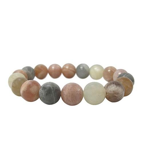 Multi Moonstone Elastic Bracelet