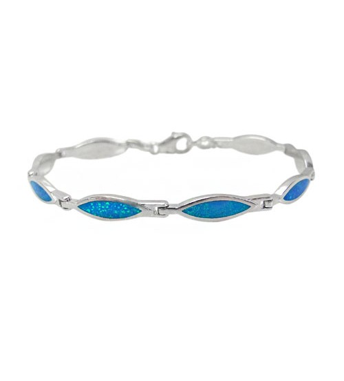 Marquise Cubic Zirconia Bracelet, Sterling Silver