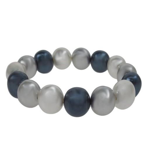 Multi Pearlized Agate Elastic Bracelet