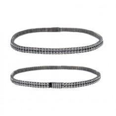 Black Cubic Zirconia Tennis Bracelet, Sterling Silver