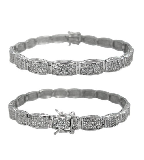 Cubic Zirconia Bracelet, Sterling Silver