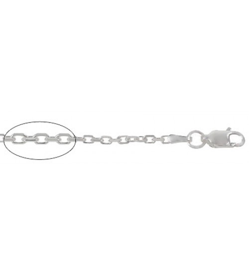 "2.8mm Anchor Chain, 16"" - 24"" Length, Sterling Silver"