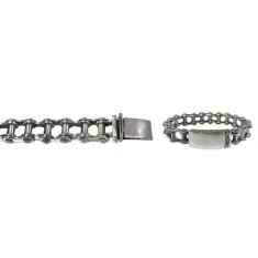 "15mm Biker Chain Bracelet with Security Clasp, 8.5"" Length, Sterling Silver"