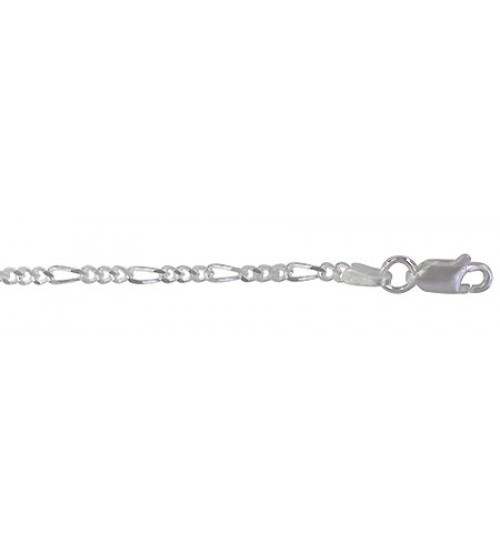 "2.2mm Figaro Chain, 16"" - 36"" Length, Sterling Silver"