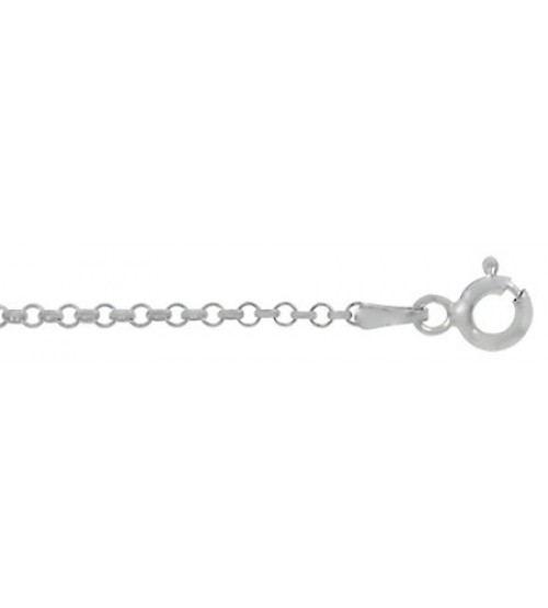 "2mm Rolo Chain - 16"" - 36"" Length, Sterling Silver"