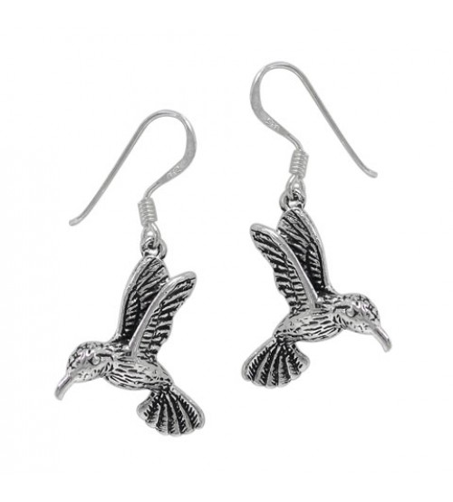 Hummingbird Dangle Earring, Sterling Silver