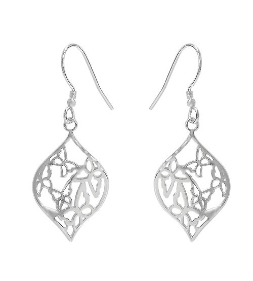 Butterfly Dangle Earring, Sterling Silver