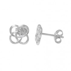 Celtic Knot Stud Earrings, Sterling Silver