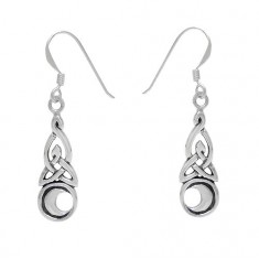Celtic Knot Dangle Earrings, Sterling Silver