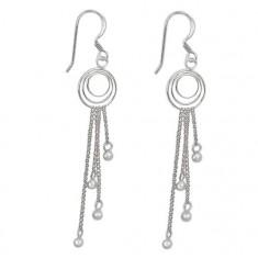 3mm Ball Bead Dangle Earrings, Sterling Silver