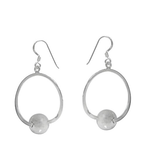 10mm Ball Dangle Earrings, Sterling Silver