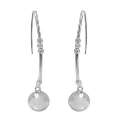 2.5-10mm Ball Bead Dangle Earrings, Sterling Silver
