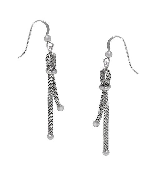 Meshi Bar Dangle Earrings, Sterling Silver