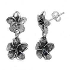 Flower Stud Earrings, Sterling Silver
