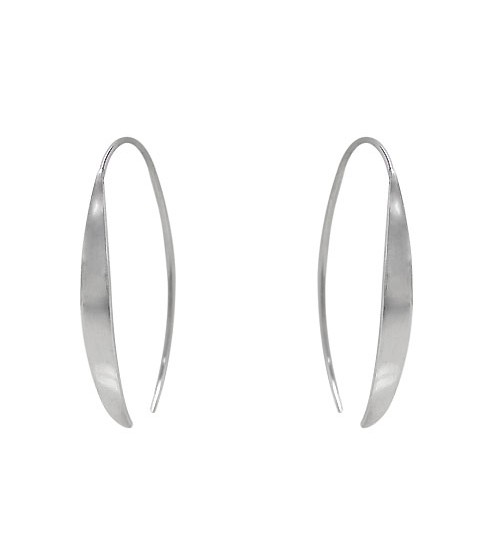 Open Hoop Dangle Earrings, Sterling Silver