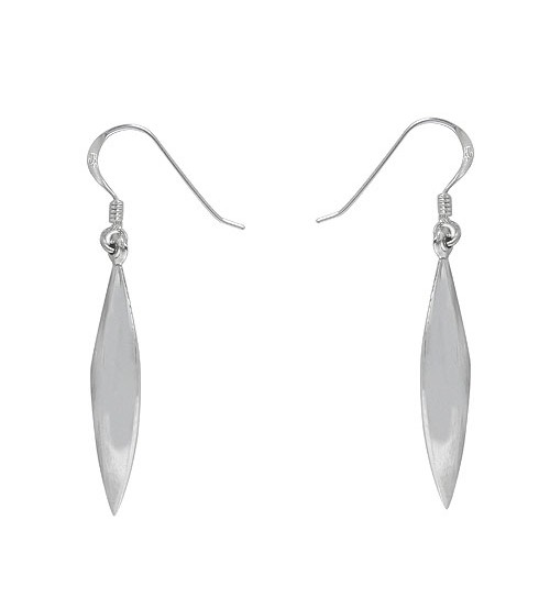 Marquise Dangle Earrings, Sterling Silver