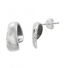 Curvy Stud Earrings, Sterling Silver