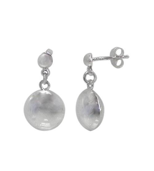 Round Stud Earrings, Sterling Silver