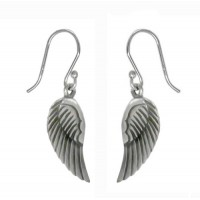 Angel Wings Dangle Earrings, Sterling Silver