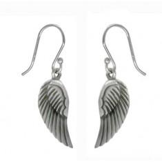 Angel Wings Dangle Earrings, Sterling Silver