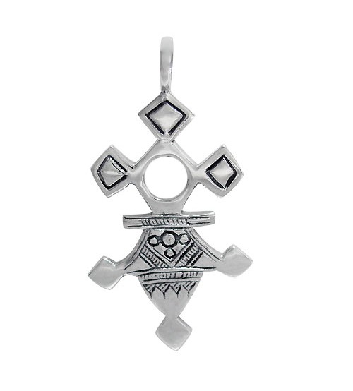 Unique Style Pendant, Sterling Silver
