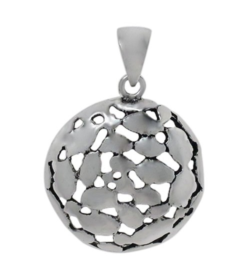 Smooth Round Pendant, Sterling Silver