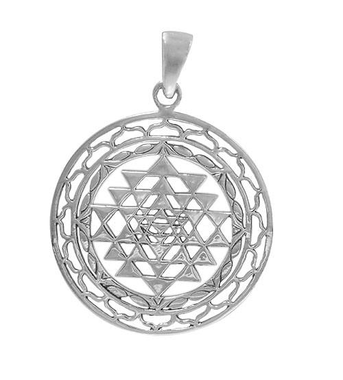 Sri Yantra Pendant, Sterling Silver