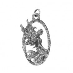Fairy Pendant, Sterling Silver