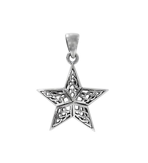 Filligree Style Star Pendant, Sterling Silver